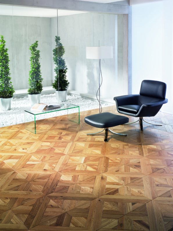 Tafelparkett von Teka Woodesign Grand Palais, Old Style, white oak, active, natural oil