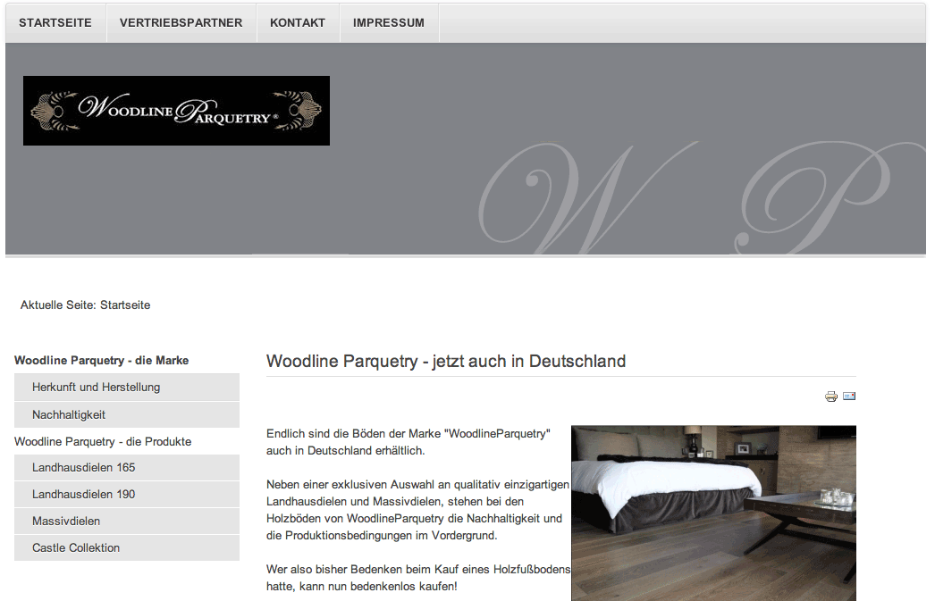 Screenshot www.woodlineparquetry.de