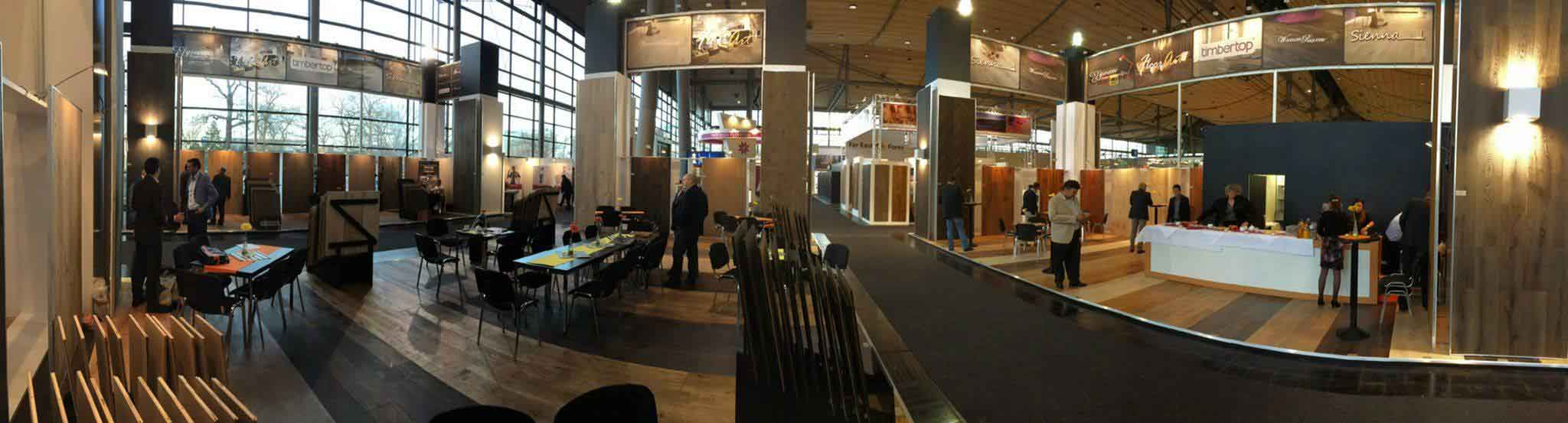 Domotex Hannover 2016 – Panoramabild vom Stand