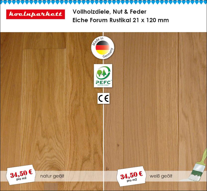 Riesen Gaudi Aktion Angebot: Vollholzdiele Nut & Feder Eiche Forum Rustikal von koelnparkett
