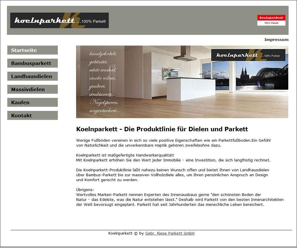Die Marke Koelnparkett: Neuer Internetauftritt