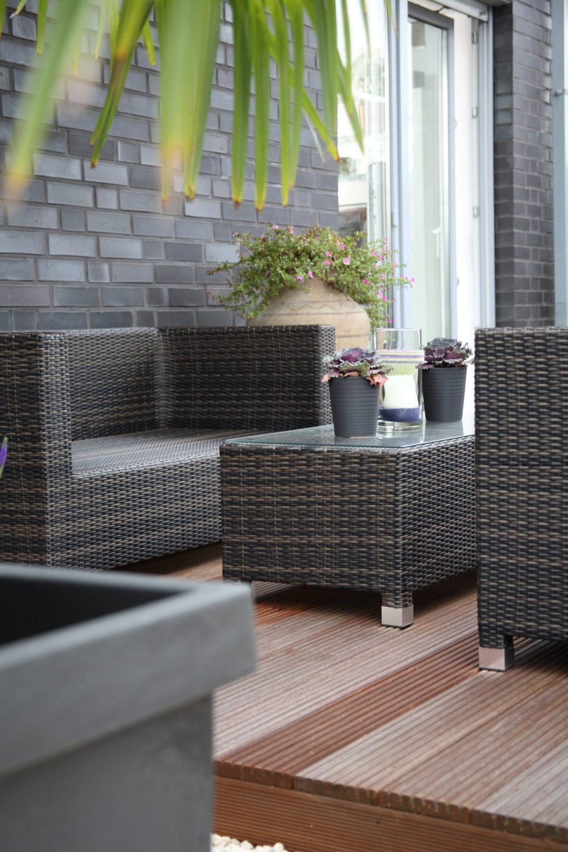Terrassendielen – Terrasse mit Palme