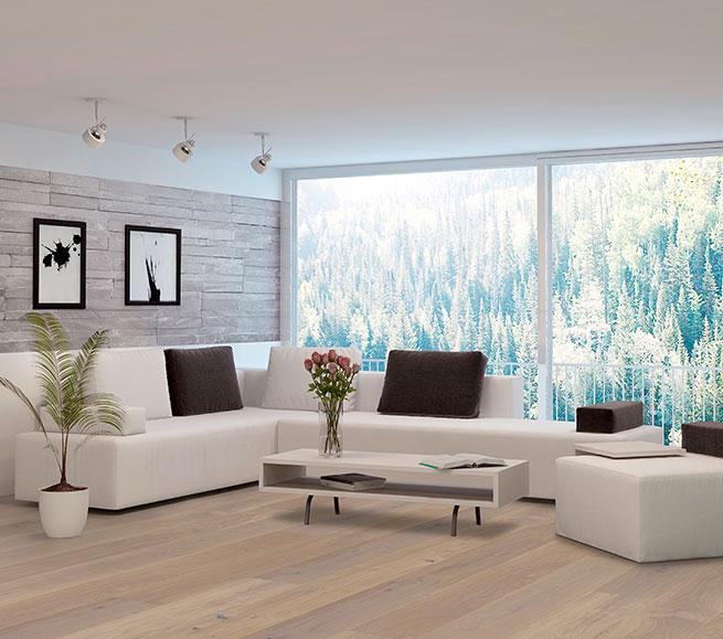 Modernes Wohnen auf echtem Holzboden – Landhausdiele von Woodline Parquetry