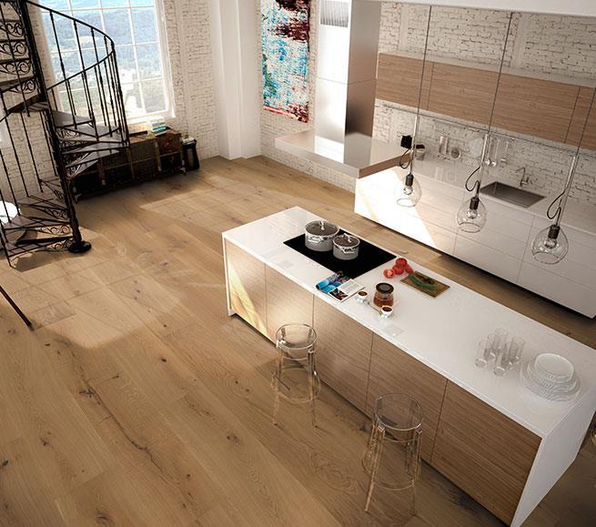 Woodline Parquetry Landhausdielen XL Raumbild