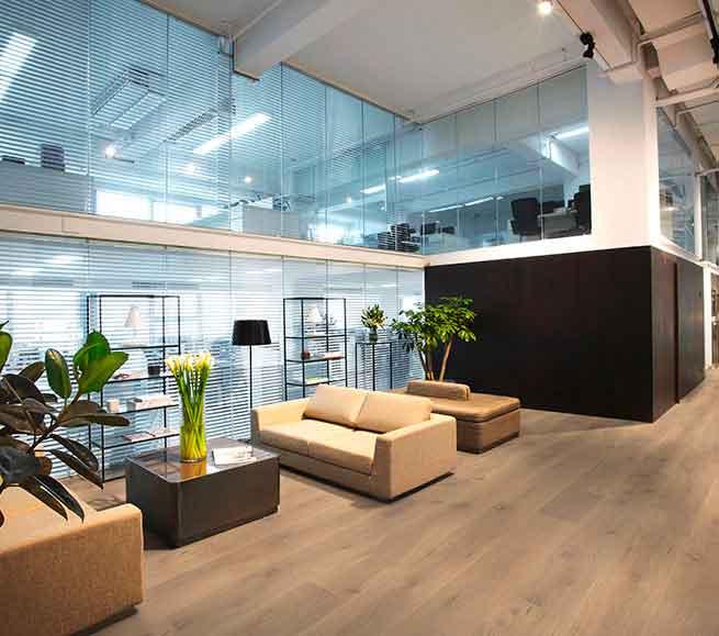 Landhausdielen Koelnparkett Raumbild: Bürogebäude mit Parkett