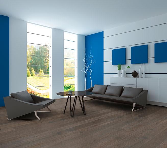 Woodline Parquetry Echtholzdiele Wohnzimmer