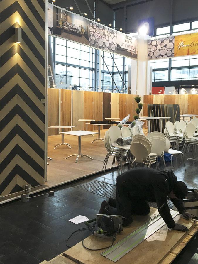 Aufbau Domotex 2017 02