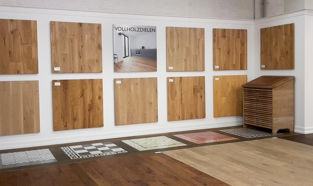 Neues Vollholzdielen-Studio in unserer Parkett-Ausstellung
