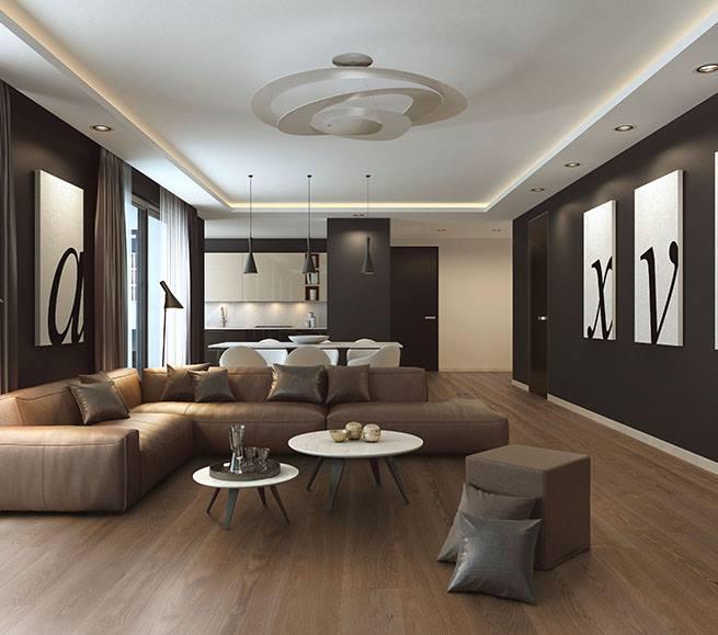 Landhausdiele Esche im Wohnzimmer von koelnparkett