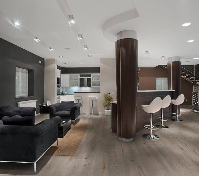 Moderne Echt-Holz Landhausdiele