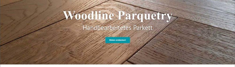 Woodline Parquetry Website mit neuem Look