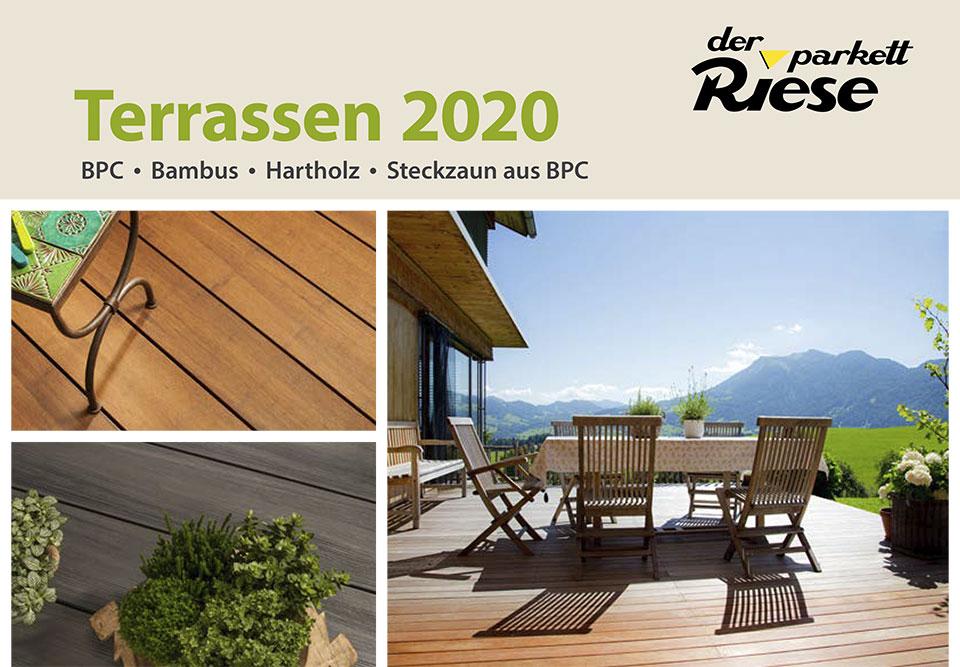 Terrassen- & Gartenkatalog 2020 Cover