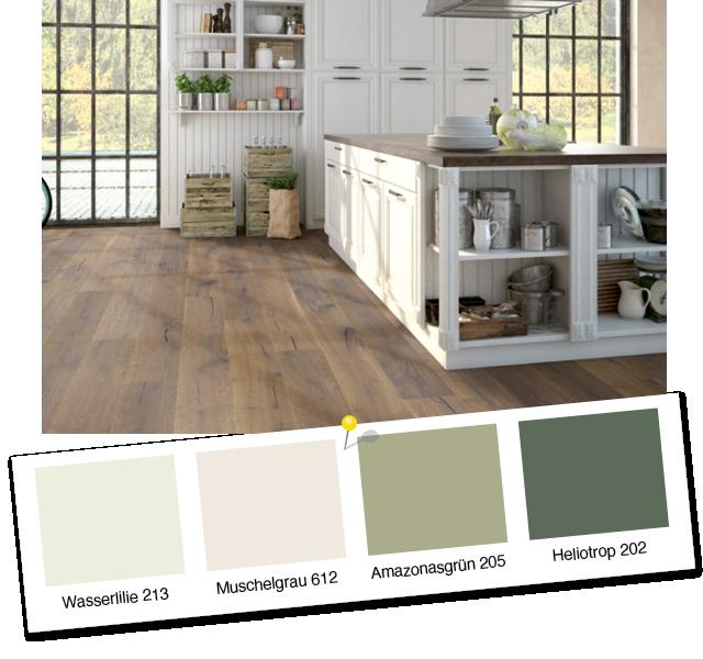 Inspiration Landhausstil: Landhausdiele Eiche Ozark und Wohnfarben