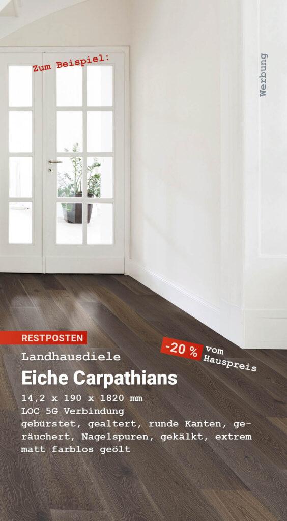 Parkett Schnäppchen: Landhausdiele Eiche Carpathians