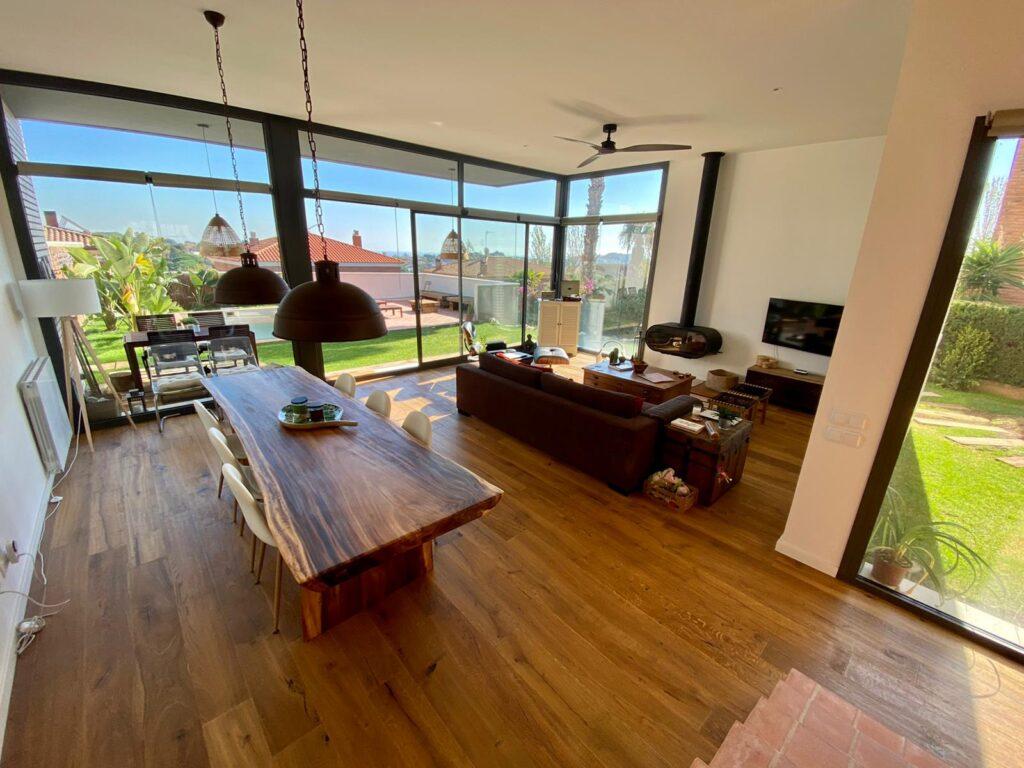 Landhausdiele Eiche Caucasus im Wohnzimmer