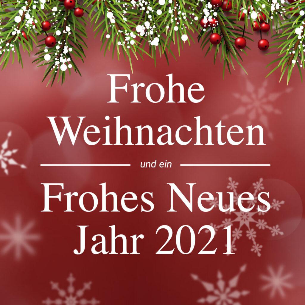 Weihnachtswünsche: Frohe Weihnachten und eine Frohes Neues Jahr