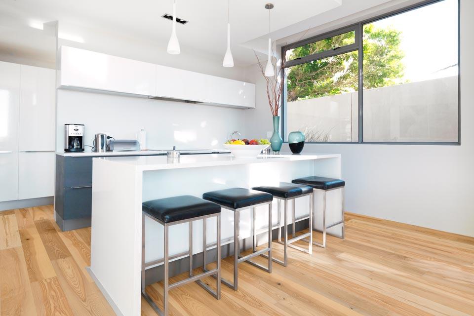 Esche Landhausdielen Rustikal in Küche