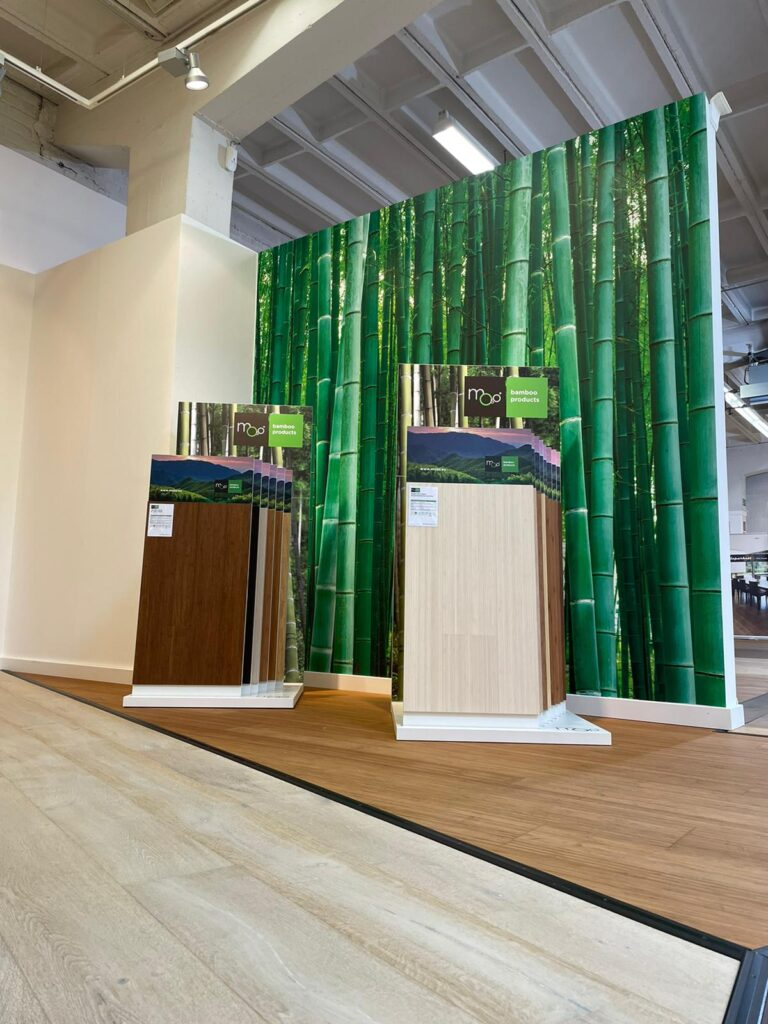 Bambusparkett Studio bei der Parkett Riese in Köln